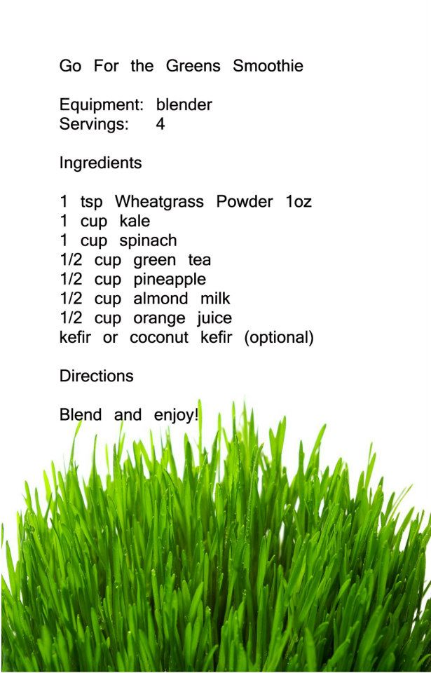 Recepies Wheatgrass 06