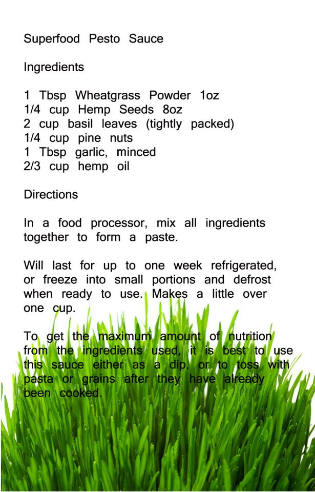 Recepies Wheatgrass 16